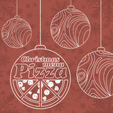 Abstract vector Christmas menu for Pizza Stock Photo
