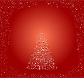 Abstract vector of a christmas tree Stock Images