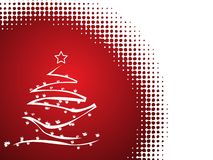 Abstract vector Christmas tree Royalty Free Stock Photos