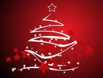 Abstract vector Christmas tree Royalty Free Stock Image