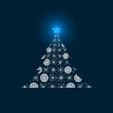 Abstract vector Christmas Tree. Stock Images