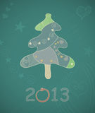 Abstract vector Christmas tree. Royalty Free Stock Photo