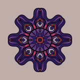 Abstract vector circle floral ornamental border Royalty Free Stock Photo
