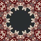 Abstract vector circle floral ornamental border Royalty Free Stock Photography