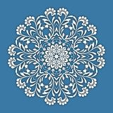 Abstract vector circle floral ornamental border. Vector ornamental border frame. Can be used for banner, web design, wedding cards and others royalty free illustration