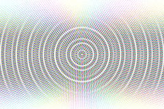 Abstract vector circle glitched background Stock Photo