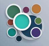 Abstract vector circle shape design Royalty Free Stock Photo