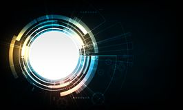 Abstract vector circle technology design with gear. Abstract vector circle technology design with gear stock illustration