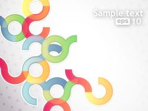 Abstract vector circles background Royalty Free Stock Photos