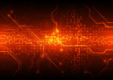 Abstract vector circuit board background illustration Stock Images