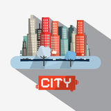 Abstract Vector City Illustration Royalty Free Stock Photography