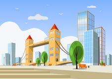 Abstract vector city - summer Royalty Free Stock Photos