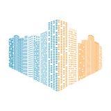 Abstract vector city Stock Photos