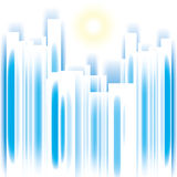 Abstract vector cityscape. Abstract vector summer cityscape skyscrappers silhouette background royalty free illustration