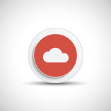 Abstract vector cloud button. Royalty Free Stock Image
