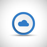 Abstract vector cloud button. Royalty Free Stock Images
