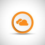 Abstract vector cloud button. Stock Images