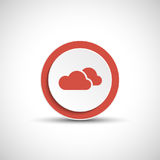 Abstract vector cloud button. Stock Image