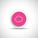 Abstract vector cloud button. Stock Photos