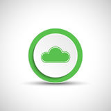 Abstract vector cloud button. Royalty Free Stock Photography