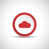 Abstract vector cloud button. Stock Photography