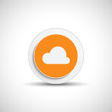 Abstract vector cloud button. Royalty Free Stock Photo
