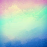 Abstract vector cloudy sky background stock illustration