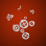 Abstract vector cogs - gears Stock Images