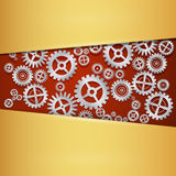 Abstract vector cogs - gears. Gold Steel Background Stock Illustration