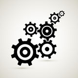Abstract vector cogs - gears. Abstract vector black cogs - gears on grey background Stock Illustration