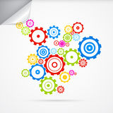Abstract vector cogs - gears. On Grey Background Stock Illustration