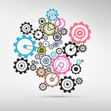 Abstract vector cogs Stock Photography
