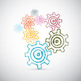 Abstract Vector Cogs - Gears Royalty Free Stock Photos