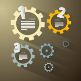 Abstract vector cogs - gears Royalty Free Stock Images