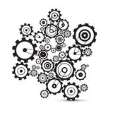Abstract vector cogs - gears. On white background Royalty Free Illustration