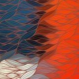 Vector wave background of doodle hand drawn lines Stock Photography