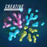 Abstract vector color splash background paint Royalty Free Stock Images