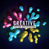 Abstract vector color splash background paint Stock Images