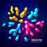 Abstract vector color splash background paint Royalty Free Stock Image