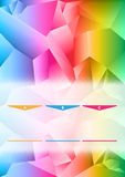 Abstract vector colored background of brochure. With 3D triangles and ABC choices Stock Photo