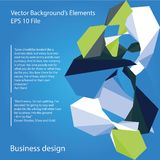 Abstract vector colored elements. Infographics elements - abstract business vector elements Royalty Free Stock Images