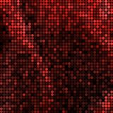 Abstract vector colored round dots background. Red stock illustration