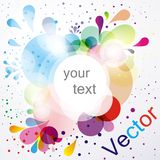 Abstract vector colorful background Royalty Free Stock Images