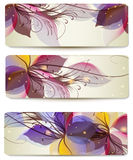 Abstract Vector Colorful Backgrounds Set For Business Cards Design Stock Photos