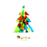 Abstract Vector Colorful Christmas Tree Stock Photo