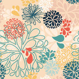 Abstract vector colorful doodles in shape of Stock Photography
