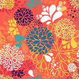 Abstract vector colorful doodles in shape of Royalty Free Stock Photos