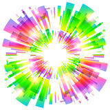Abstract vector colorful explosion Royalty Free Stock Images