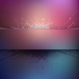 Abstract vector colorful grunge background. With banner Stock Image