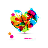 Abstract Vector Colorful Heart Royalty Free Stock Photo